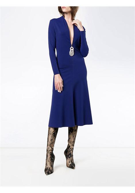 abito a maniche lunghe slim blu pacifico con chiusura frontale con zip BALENCIAGA | Abiti | 479872-TTK214540