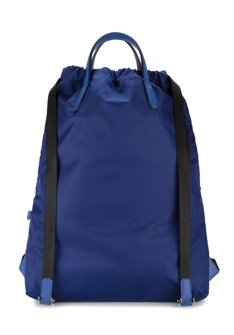 blue nylon backpack with front multicolored Fendi logo leather zip pocket FENDI |  | 7VZ034-SISF05JQ
