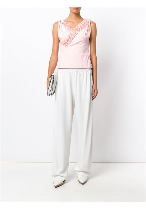 Pink cotton ruffled sleveless top JACQUEMUS |  | 173TO09PINK