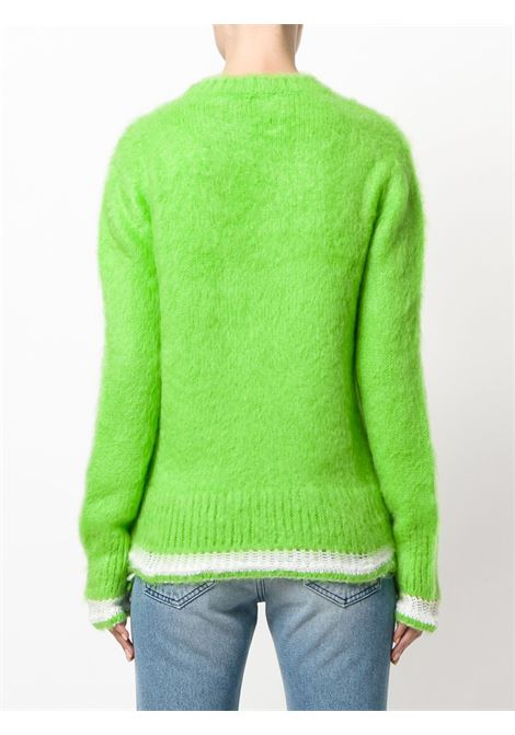 Green mohair wool v-neck jumper MSGM |  | 2342MDM240-17489636