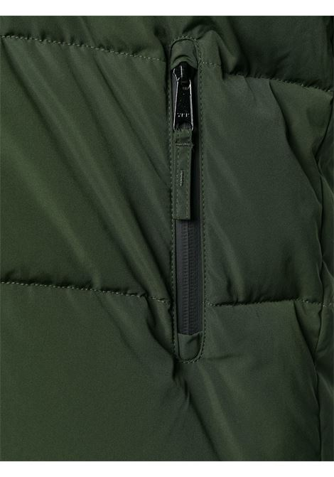 Piumino verde con zip in piuma d'oca con colletto alla coreana ALBERTO ASPESI   Giubbini   8I14-G70301386
