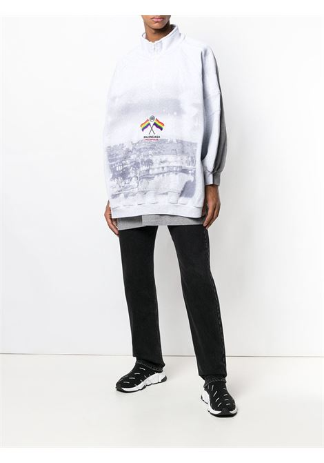 printed oversized cotton-blend pullover  BALENCIAGA |  | 541856-TCV399689