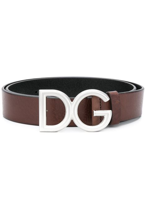 brown calf leather silver DG buckle belt DOLCE & GABBANA |  | BC4247-AI8948S087