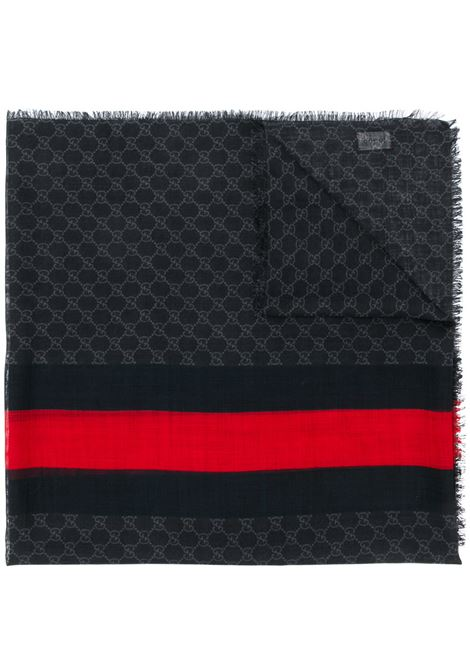 black light wool center Gucci Web red and blue stripe scarf GUCCI |  | 497915-4G2001074