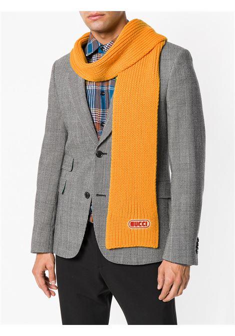 sciarpa in maglia a coste in lana giallo girasole 15x180 GUCCI | Sciarpa | 527811-4G2067100
