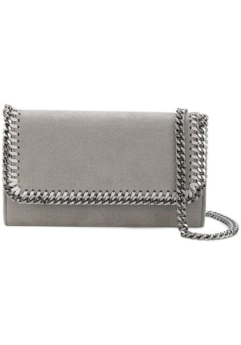 gey eco-leather Falabella shoulder bag with silver chain STELLA MC CARTNEY      498492-W91321220