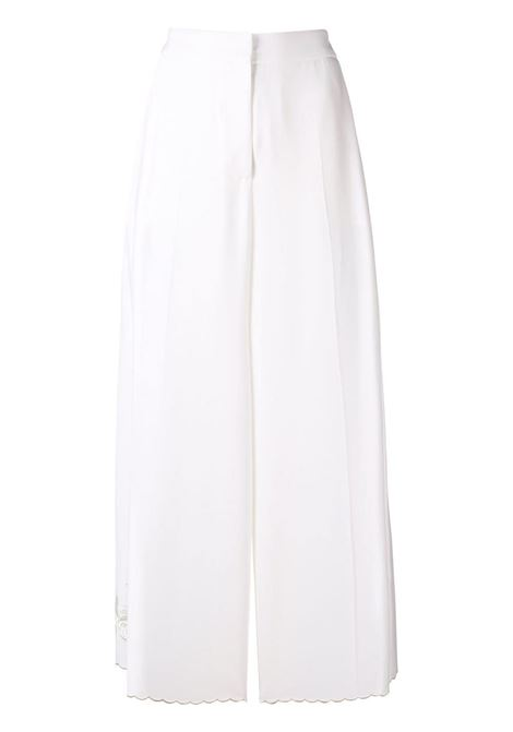 pantalone a gamba larga a vita alta, lunghezza corta con ricami STELLA MC CARTNEY | Pantaloni | 530500-SCA069001