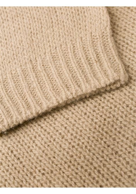 Beige yak rollneck knit sweater  ALBERTO ASPESI |  | 4096-553201046