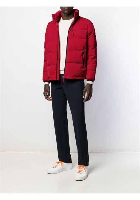 Red feather down front zip puffer jacket  ALBERTO ASPESI |  | 8I14-G70301293