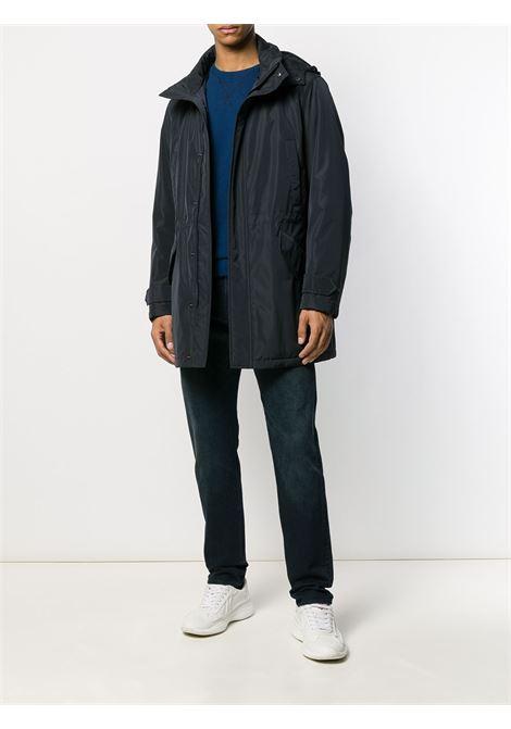 Parka con cappuccio blu navy con maniche lunghe ALBERTO ASPESI   Giaccone   9I12-798185101