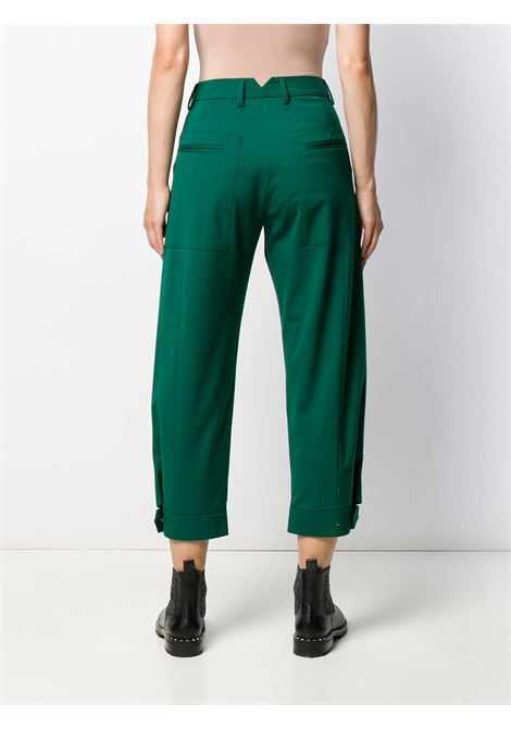 Green cropped trousers featuring belt loops ALBERTO BIANI |  | CC893-WO024172