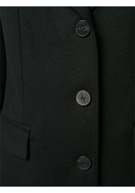 Cappotto monopetto in lana nera con revers classico ALBERTO BIANI | Cappotti | OO876-WO003790