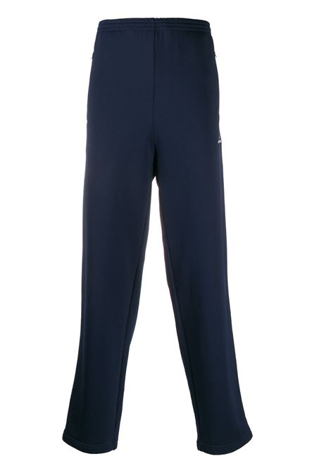 Navy blue cotton blend side stripe track trousers   BALENCIAGA |  | 595007-TGV048502