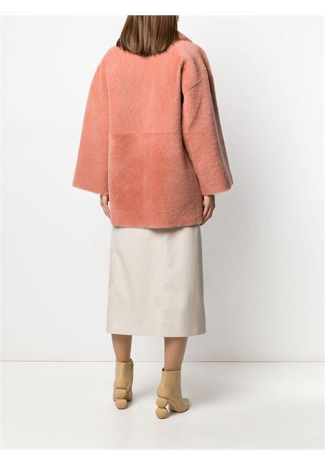 Coral pink lamb fur oversized shearling coat  BLANCHA |  | 19079/200-30CORAL