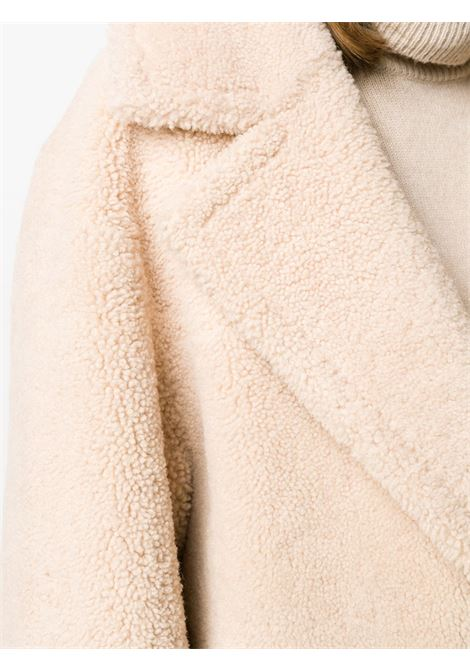 Cream white lamb fur single breasted shearling coat   BLANCHA |  | 19135/300-60CREMA