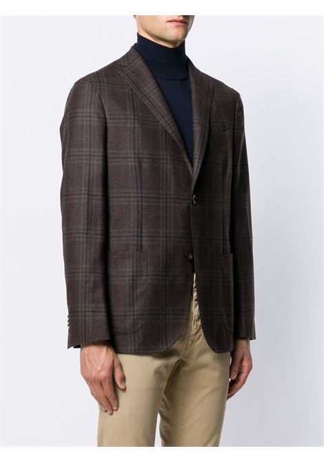 Brown cotton and virgin wool blend single-breasted blazer  BOGLIOLI |  | N1302EWS-BPC043491