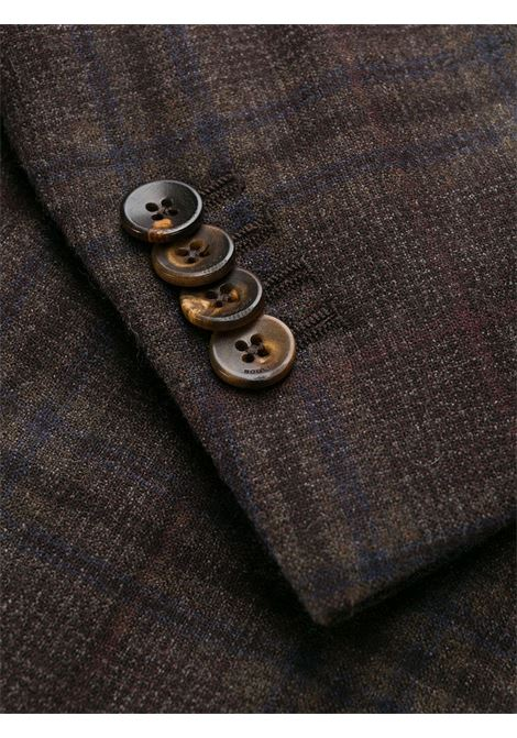 Giacca monopetto in misto cotone e lana vergine marrone BOGLIOLI | Giacche | N1302EWS-BPC043491
