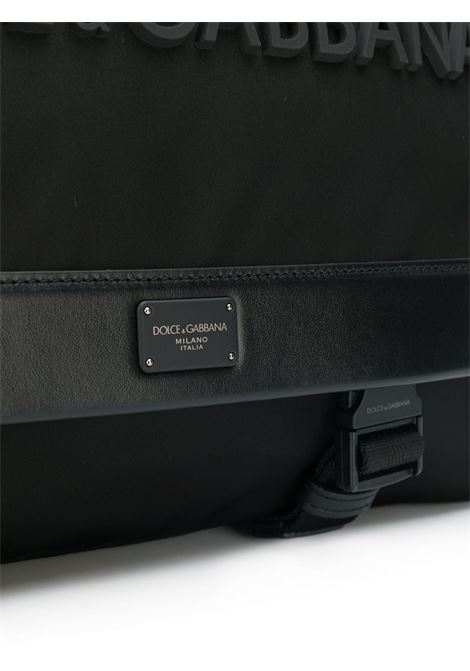 black front embossed Dolce & Gabbana logo messenger bag DOLCE & GABBANA |  | BM1597-AZ6758B956