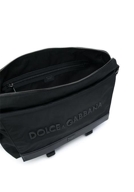 Borsa messenger nera con logo frontale Dolce & Gabbana in rilievo DOLCE & GABBANA | Borsa | BM1597-AZ6758B956