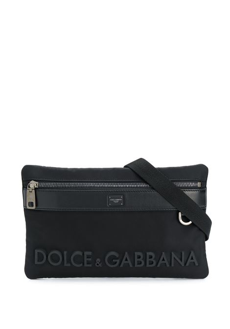 black calf leather belt bag with Dolce & Gabbana front embossed logo DOLCE & GABBANA |  | BM1702-AK7668B956