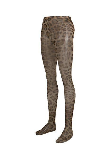 Collant leopardati in polyammide DOLCE & GABBANA   Calze   FC163A-FSM4ZHY13M