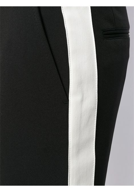 black cotton straight leg pants with white side band DOLCE & GABBANA |  | GYWHLT-FURH5N0000