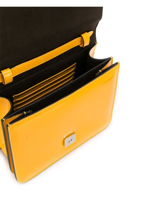 Karligraphy shoulder bag in shiny yellow leather FENDI |  | 8BT317-A5AUF0KNA