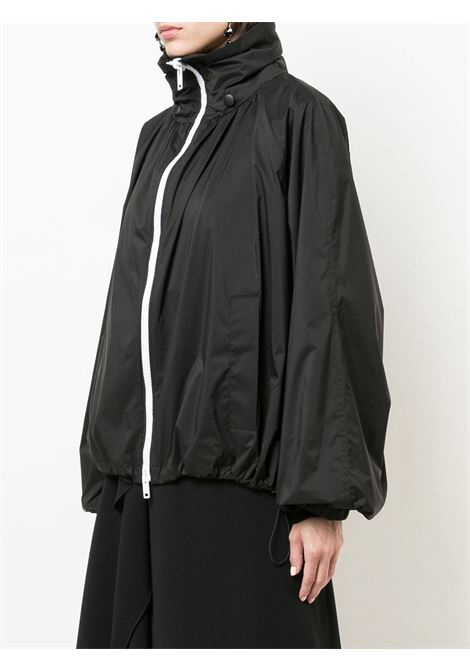 black oversized polyester bomber with contrasting white zip GIVENCHY |  | BW003J10VY001
