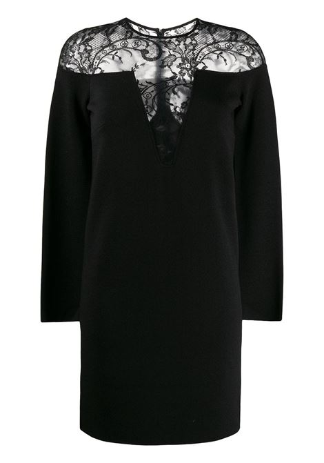 midi black lace dress with V neck-line GIVENCHY |  | BW20QC4Z5J001