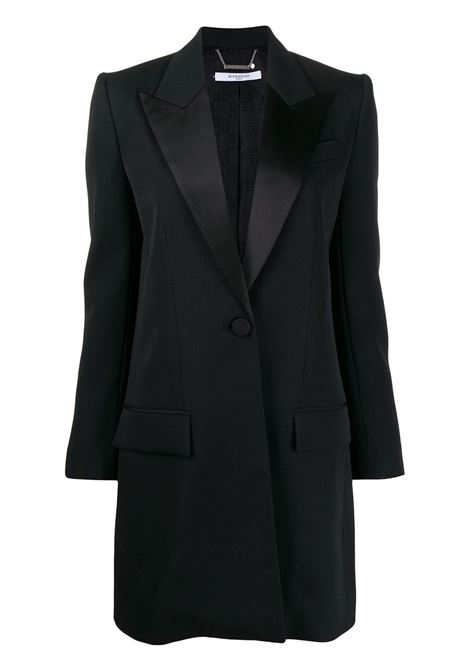 black silk and wool mid-lenght black coat GIVENCHY |  | BWC05G11BN001