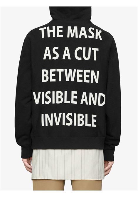 Felpa Manifesto oversize in cotone nero GUCCI | Maglieria Moda | 569828-XJBTR1299