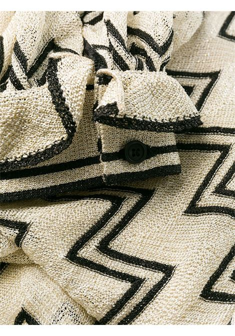 Cream silk blend zigzag day dress featuring a round neck MISSONI |  | MDG00344-BR002GS004I