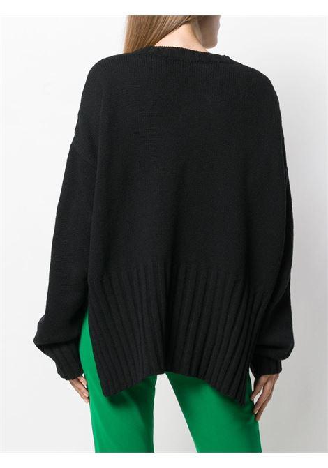 Maglia nera in misto lana e cashmere P.A.R.O.S.H. | Maglieria Moda | D510210-LINKED013