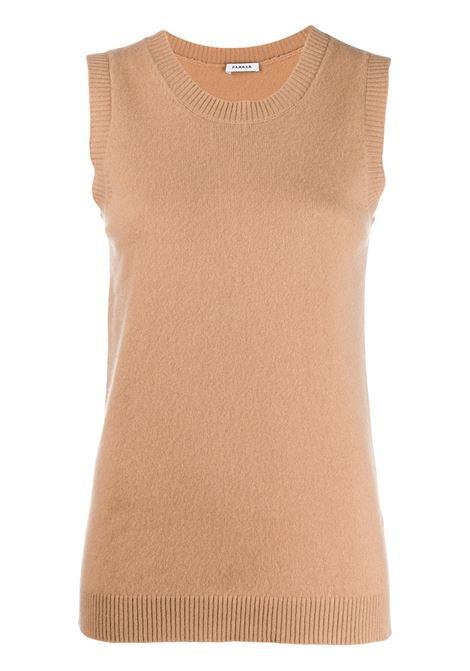 Canotta in maglia di cashmere color cammello P.A.R.O.S.H. | Maglieria Moda | D510896-WAZE006