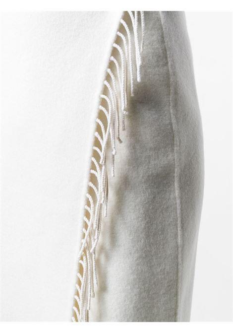 White wool scarf wrap pencil skirt featuring tassel details P.A.R.O.S.H. |  | D620584-LEX002