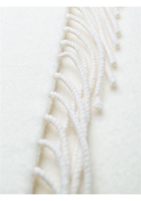 Gonna a tubino con sciarpa di lana bianca con nappe P.A.R.O.S.H. | Gonne | D620584-LEX002