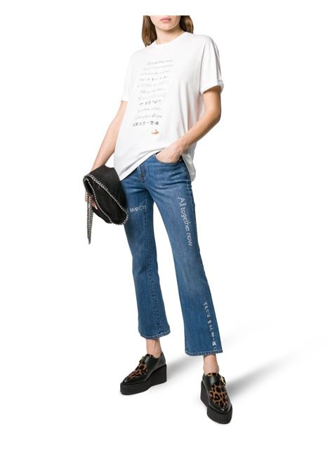white cotton short sleeves All together now t.shirt STELLA MC CARTNEY      457142-SMW869000