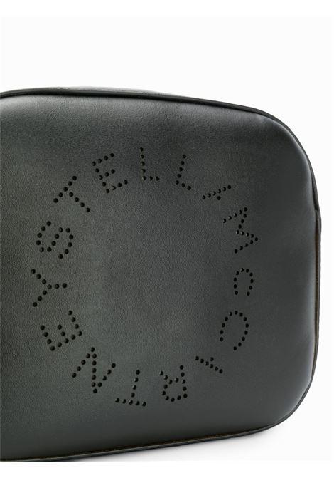 borsa a tracolla nera con tracolla logata bianca STELLA MC CARTNEY | Borsa | 557907-W85421000