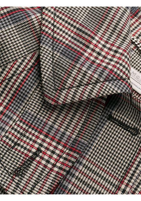 cappotto lungo in poliestere e lana con check scozzese rosso e nero STELLA MC CARTNEY | Cappotti | 571885-SNA401000