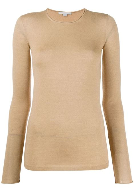 pull-over in lana vergine cammello STELLA MC CARTNEY | Maglieria Moda | 573722-S17352600
