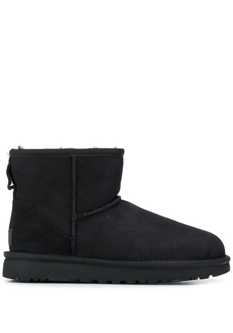 Black leather ankle boots featuring a shearling lining UGG |  | 1016222-CLASSIC MINI IIBLACK