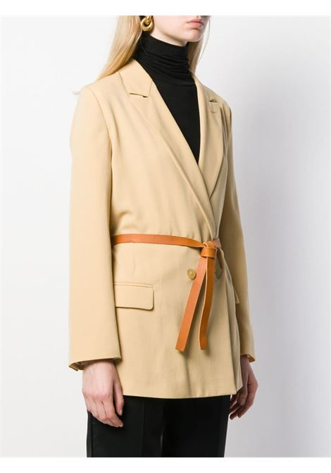 Yellow virgin wool blend double-breasted fitted blazer  FORTE_FORTE |  | 6726VANIGLIA