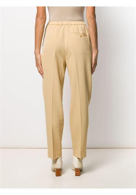 Cream virgin wool blend Vaniglia trousers featuring an elasticated waistband FORTE_FORTE |  | 6728VANIGLIA