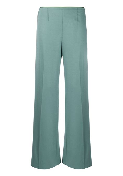 Blue virgin wool blend low-waist straight trousers  FORTE_FORTE |  | 6738CARTA ZUCCHERO