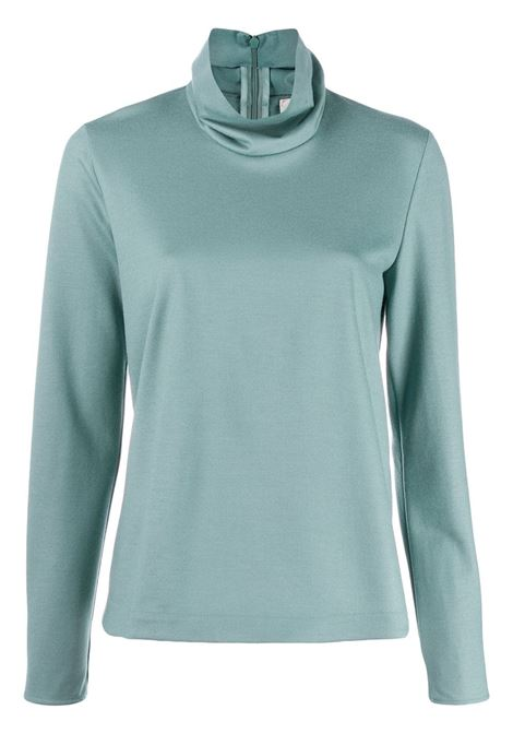 Blue wool turtleneck top featuring long sleeves FORTE_FORTE |  | 6740CARTA ZUCCHERO
