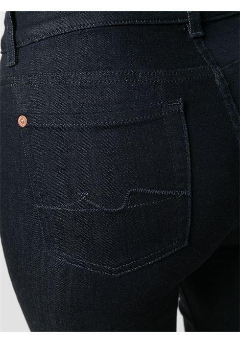 Jeans a zampa Lisha in cotone elasticizzato blu scuro 7 FOR ALL MANKIND | Jeans | JSQNA770RB-LISHADARK BLUE
