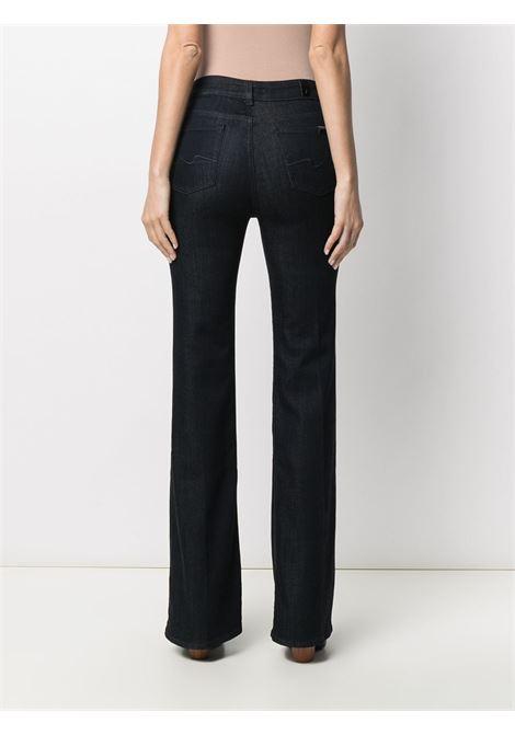 Dark blue stretch-cotton Lisha high-rise flared jeans 7 FOR ALL MANKIND |  | JSQNA770RB-LISHADARK BLUE