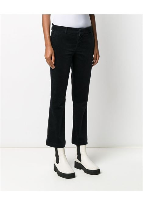 Pantaloni cropped neri in cotone elasticizzato 7 FOR ALL MANKIND | Pantaloni | JSYZX330BL-CROPPED BOOT CHINIDARK BLUE