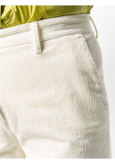 Ivory white cotton cropped corduroy trousers  featuring a mid rise ALBERTO ASPESI |  | 0101-E79285071