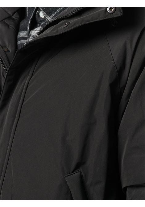 giubbino nero con cappuccio in nylon e misto poliestere con zip ASPESI | Giubbini | 0I19-G70301241